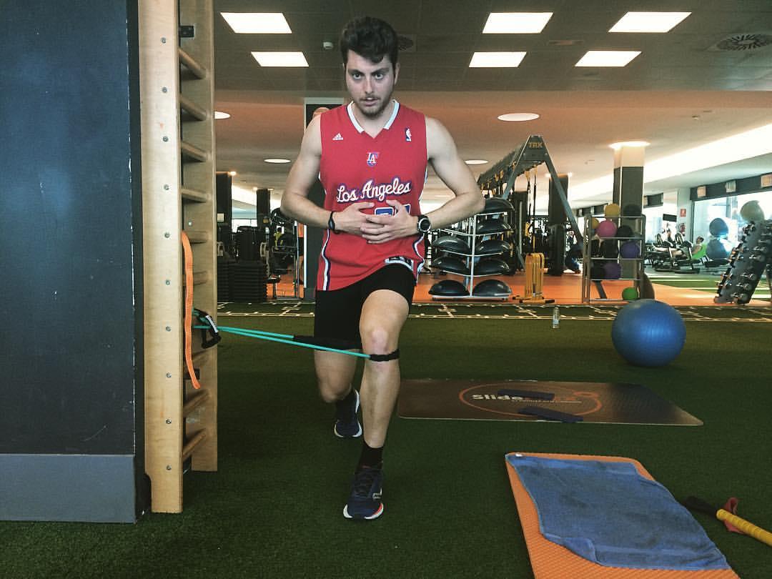 Zancada ejercicio entrenamiento inestable